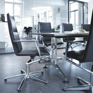 silla de conferencia tapizada