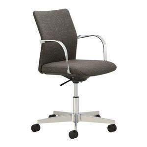 sillón de oficina contemporáneo / de tejido / aluminio / con ruedas