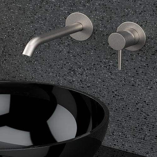 grifo monomando para lavabo / para lavamanos / de pared / empotrable
