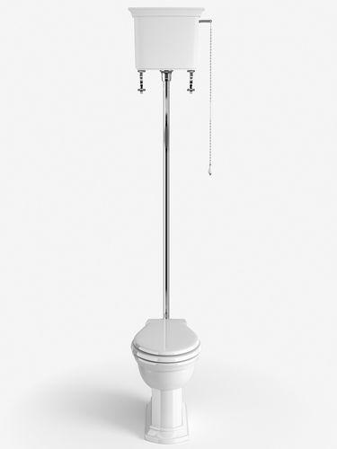 inodoro de pie / de cerámica / con cisterna alta