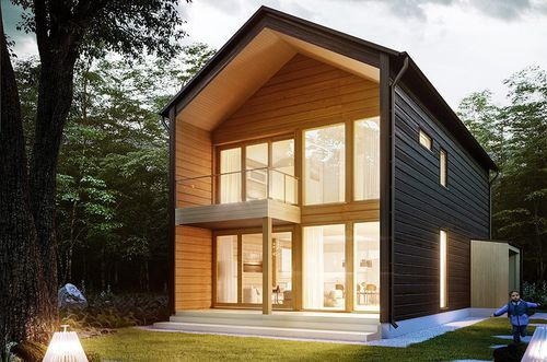 casa modular / moderna / de madera / ecológica
