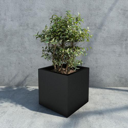 jardinera de hierro / rectangular / cuadrada / contemporánea