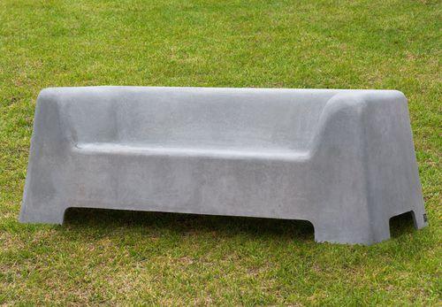 sofá contemporáneo / de jardín / en GRC / para espacio público