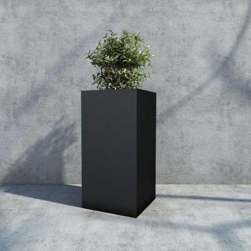 maceta de jardín de hierro / rectangular / cuadrada / para espacio público