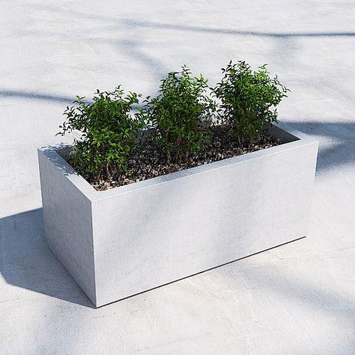 jardinera de hormigón / rectangular / contemporánea / para espacio público