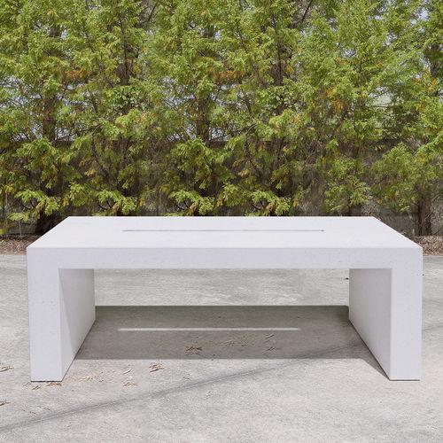 mesa contemporánea / de hormigón / con base de hormigón / rectangular