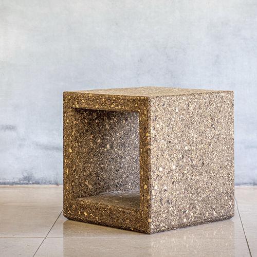 mesita auxiliar contemporánea / de corcho / rectangular / de exterior