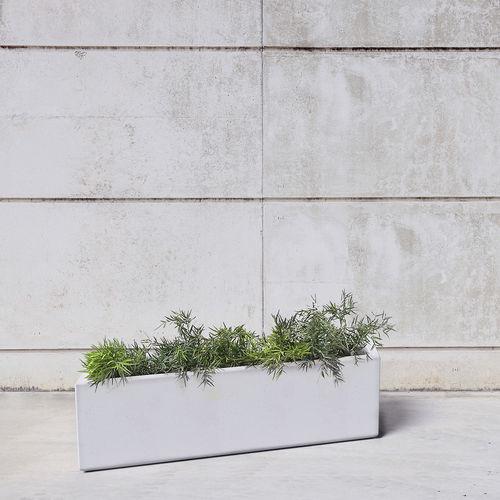 jardinera de hormigón / rectangular / modular / contemporánea