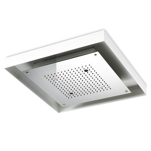 rociador de ducha empotrable de techo / cuadrado / lluvia / con iluminación integrada