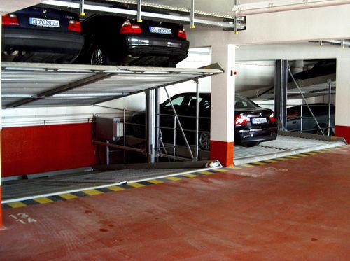 plataforma para coches inclinada