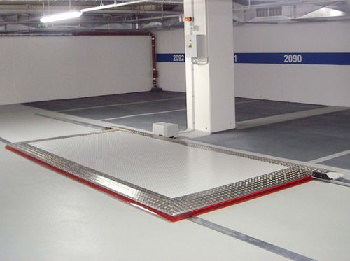 plataforma para coches deslizante