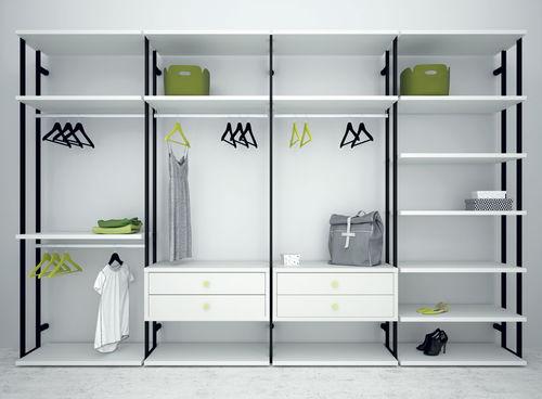 vestidor moderno / de madera lacada / de metal