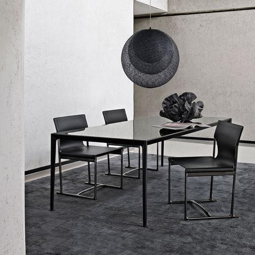 mesa contemporánea / de vidrio / de mármol / de MDF