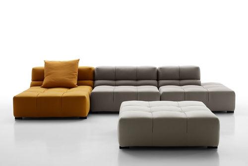 sofá modular / moderno / de cuero / de tejido
