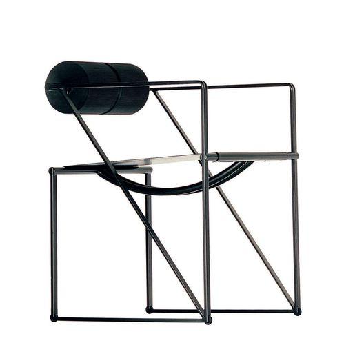 silla contemporánea / con reposabrazos / patín / de acero lacado