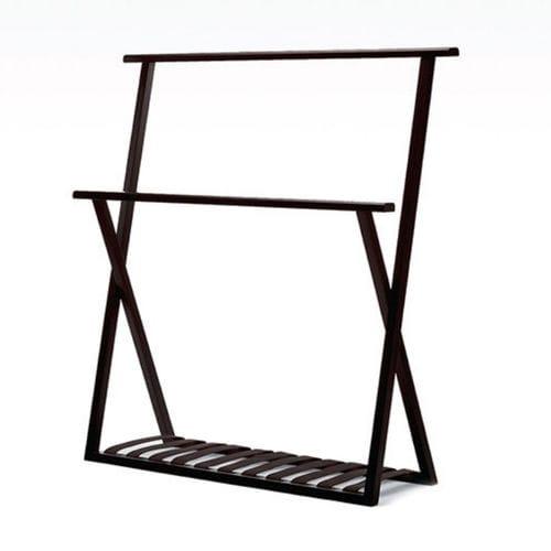 toallero 2 barras / de pie / de roble