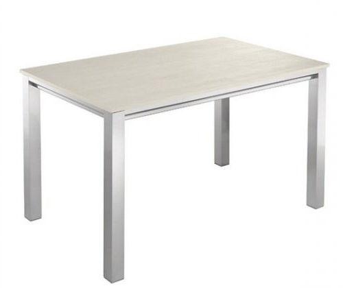 mesa de comedor contemporánea / de madera / de aluminio / rectangular