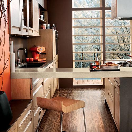 cocina moderna / de chapa de madera / de roble / con isla