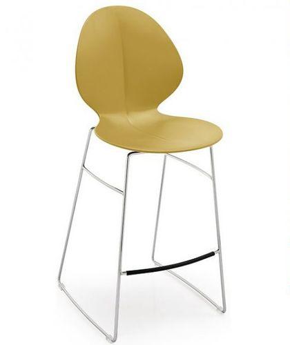 silla de bar moderna / con reposapiés / de metal / de polipropileno