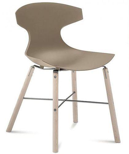 silla contemporánea / de fresno / de polipropileno / de fibra de vidrio