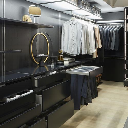 vestidor moderno / de madera lacada