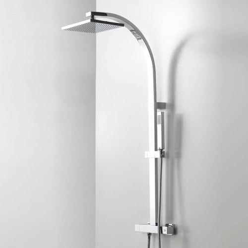 Columna de ducha termostática - PORCELANOSA - con alcachofa