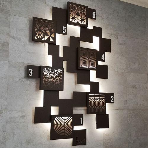 panel decorativo de aluminio / de pared / para interiores / ligero