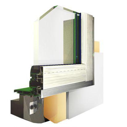 perfil de ventana de aluminio / con aislamiento térmico