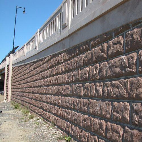 muro de contención de hormigón armado / modular / prefabricado / para la construcción de puentes