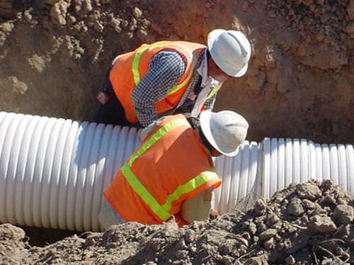 canalización de PVC / para sistema de drenaje