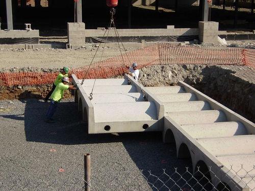 tanque enterrado / de almacenamiento de agua / de hormigón prefabricado
