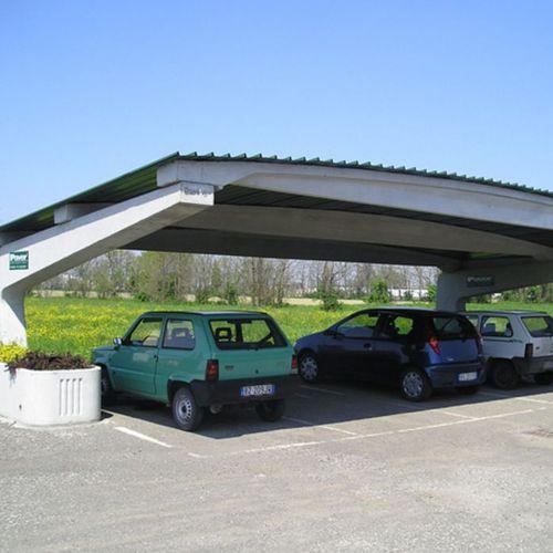 cubierta para aparcamiento de hormigón