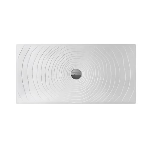 plato de ducha rectangular / sobreelevado / de cerámica / a ras de suelo