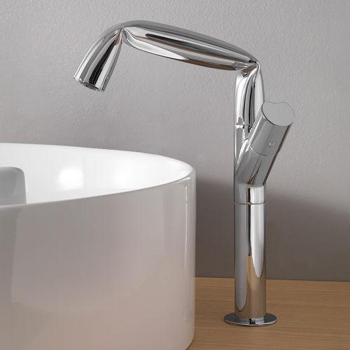 grifo monomando para lavabo / de metal cromado / de latón / de baño