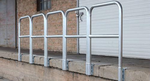 barandilla de acero galvanizado / de barras / de exterior / para plataforma