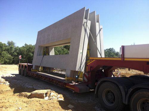 muro de hormigón / prefabricado / con paneles modulares