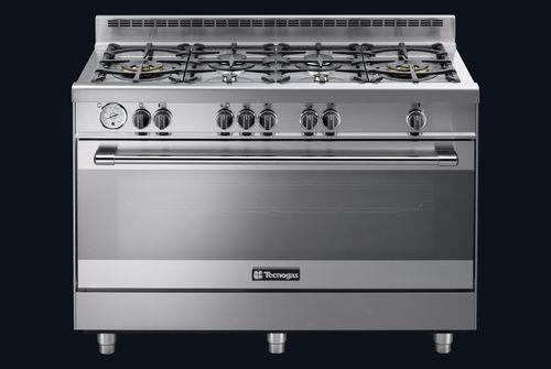 cocina con horno de gas / de hierro fundido / wok