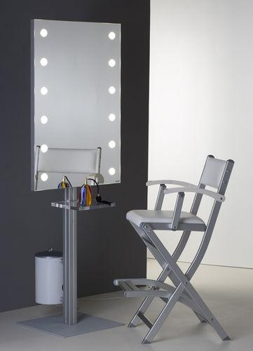espejo de pie / con luz / con estantes / contemporáneo