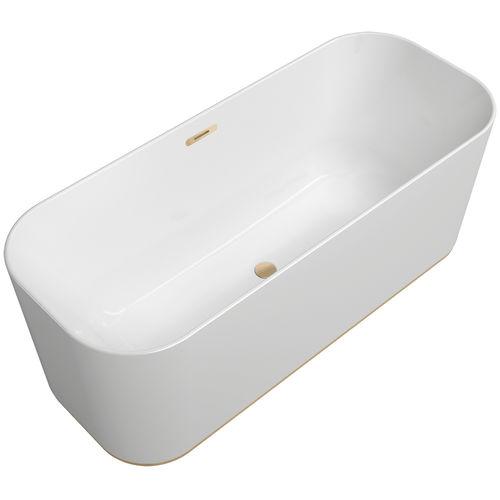 bañera en isla / de resina acrílica / de cuarzo