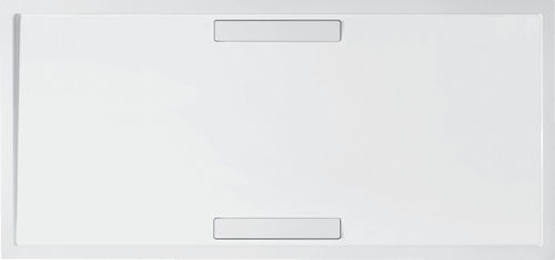 plato de ducha rectangular / de fibra acrílica / a medida