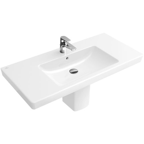 lavabo suspendido / rectangular / de porcelana / contemporáneo