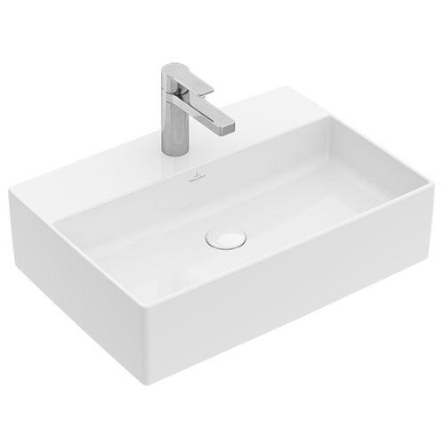 lavabo sobre encimera / rectangular / de cerámica / contemporáneo