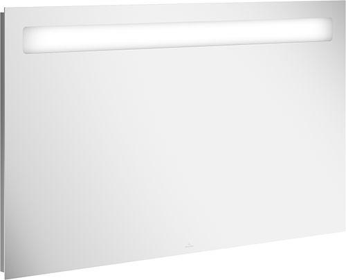 espejo para baño de pared / con luz LED / contemporáneo / rectangular