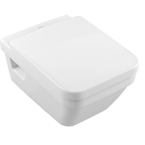 inodoro suspendido / de cerámica / con cisterna empotrada / sin brida