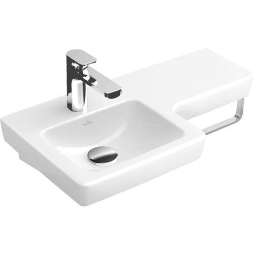 lavabo suspendido / de porcelana / contemporáneo / con encimera