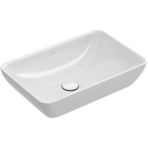 lavabo sobre encimera / rectangular / de porcelana / contemporáneo