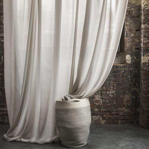 tela para cortinas / de color liso / de poliéster / de seda