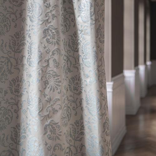 tela de tapicería / para cortinas / con motivos florales / de poliéster