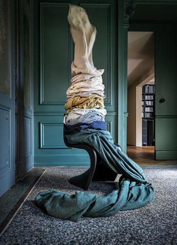 tela para cortinas / de color liso / de lino / lavable