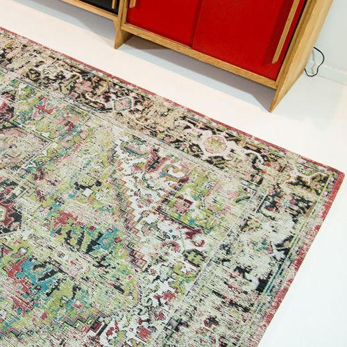 alfombra tradicional / con motivos / de algodón / rectangular